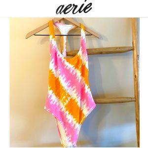 L Aerie Tie Dye One Piece Swimsuit NWOT